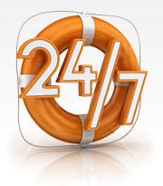 Zajišťujeme havarijní servisní službu NONSTOP po celých 24 hodin denně.